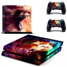Fire Wolf  skin decal for PS4 PlayStation 4 console and 2 controllers