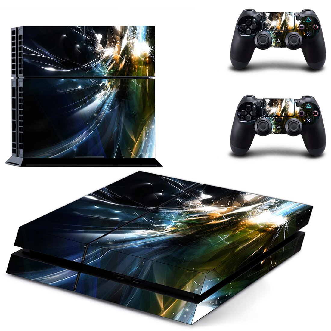 Fired Floor  skin decal for PS4 PlayStation 4 console and 2 controllers