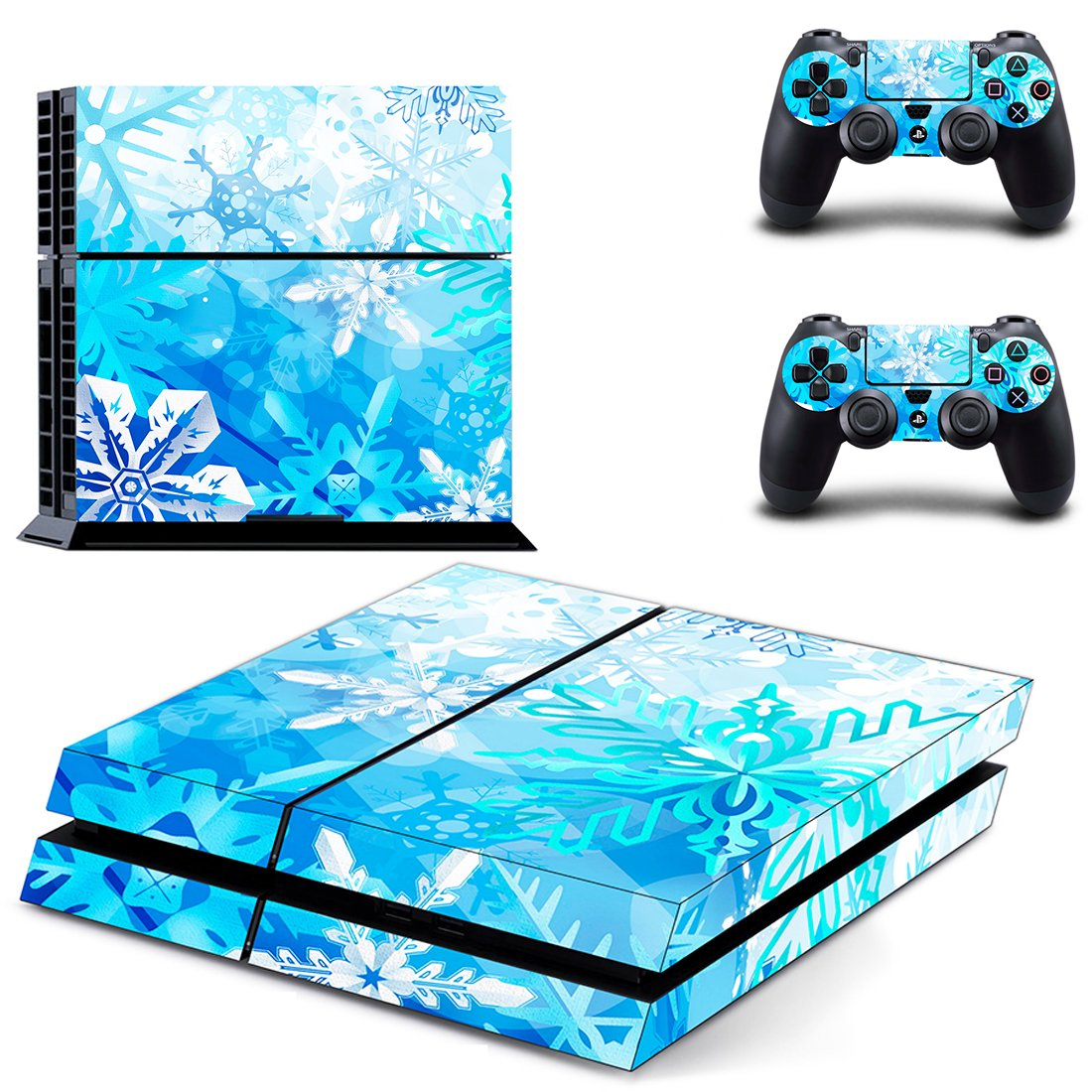 Winter Flower  skin decal for PS4 PlayStation 4 console and 2 controllers