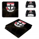 St Kilda Football Club ps4 slim edition skin decal for console and controllers