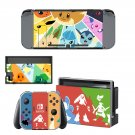 White pokemon decal for Nintendo switch console sticker skin