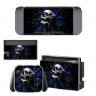 Skull clock decal for Nintendo switch console sticker skin
