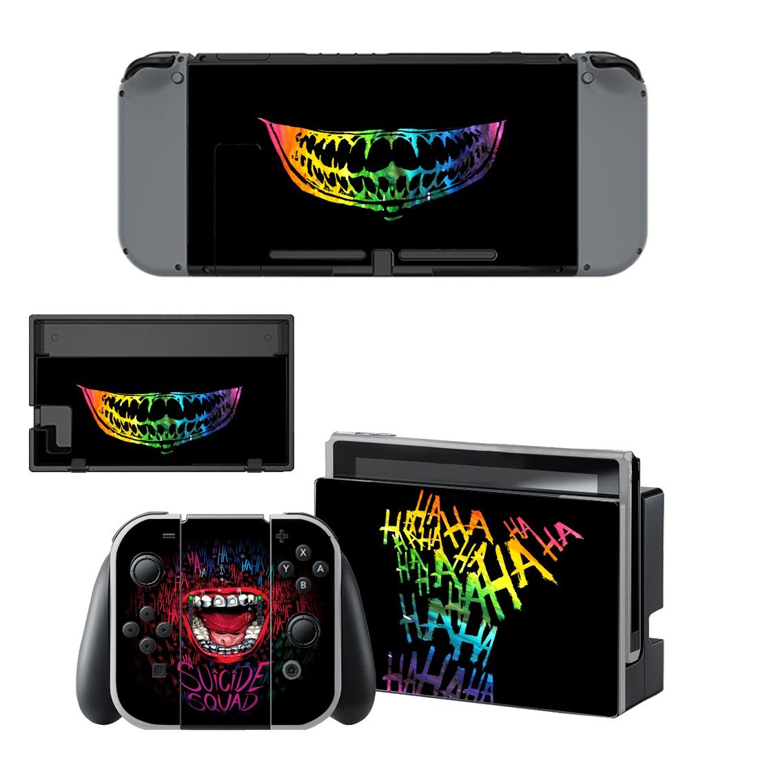 Suicide squad decal for Nintendo switch console sticker skin
