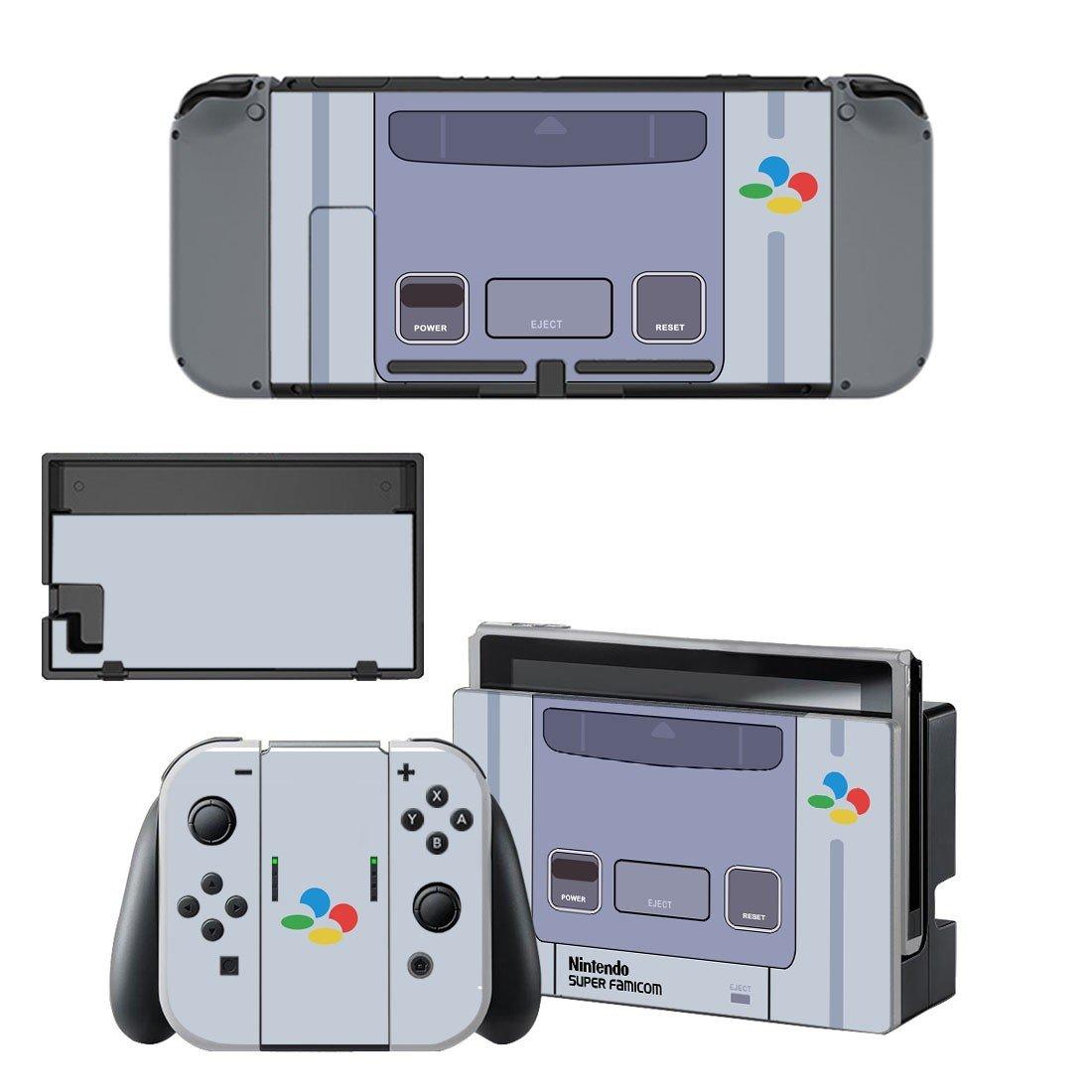 Nintendo super famicon decal for Nintendo switch console sticker skin