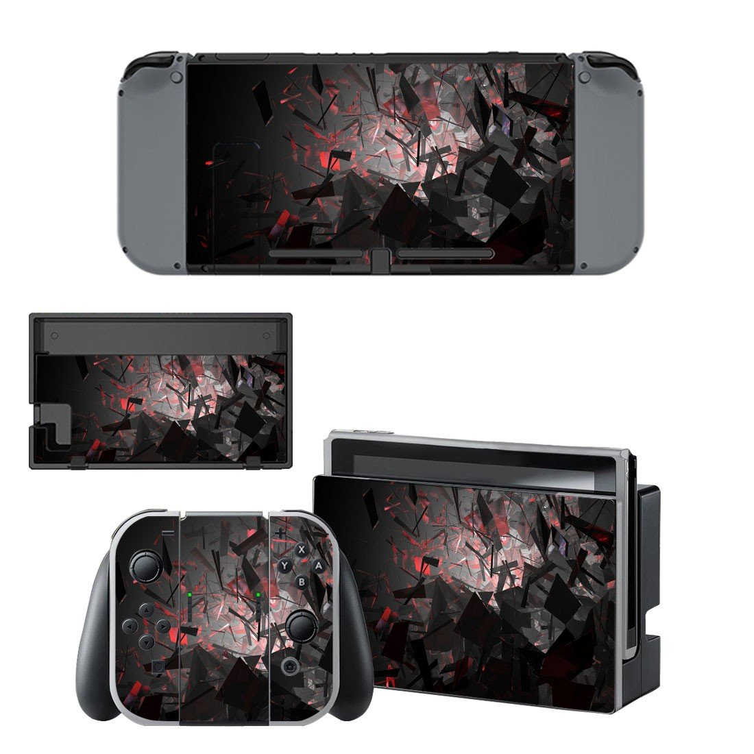 Broken box decal for Nintendo switch console sticker skin