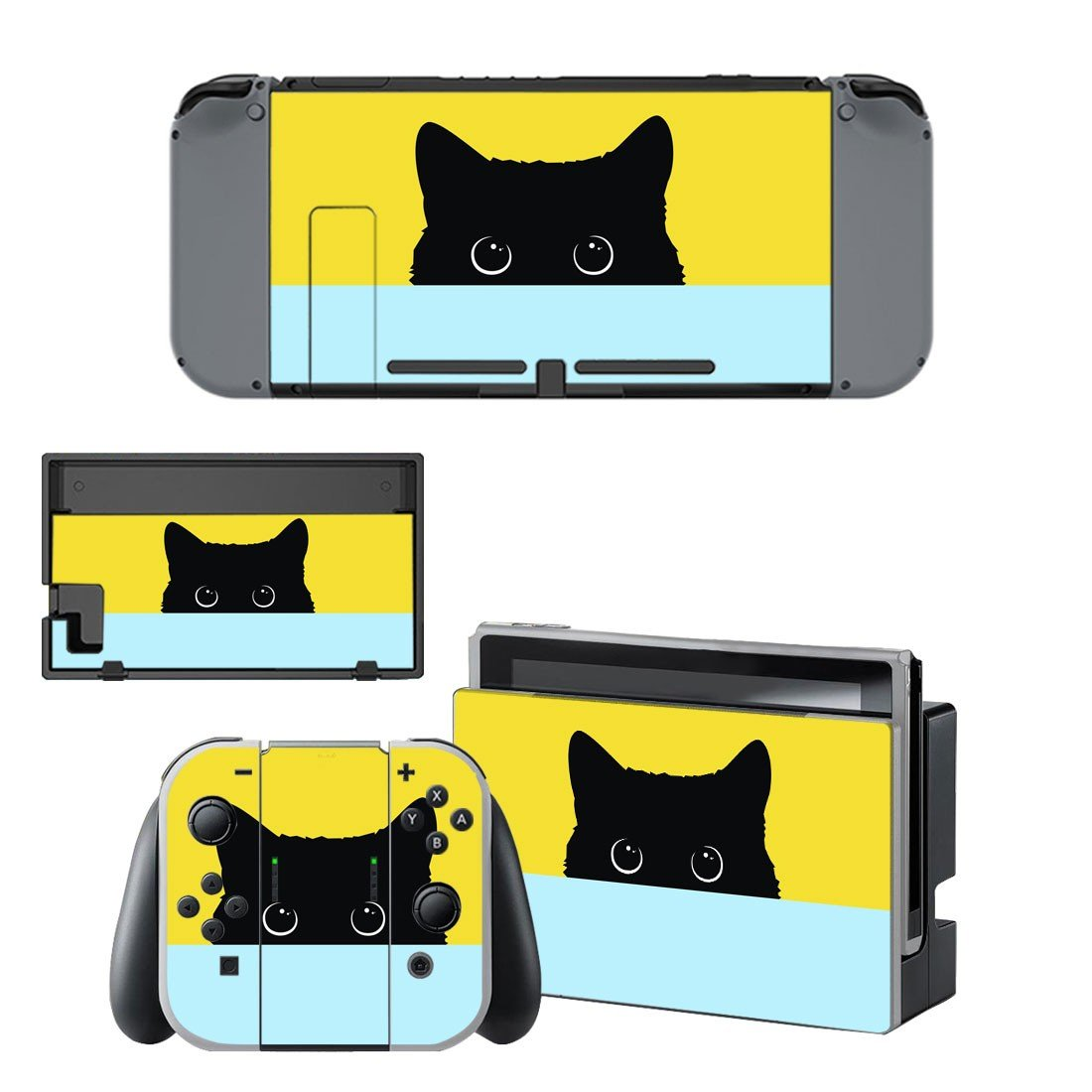 Black cat decal for Nintendo switch console sticker skin