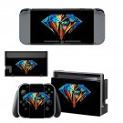 Colored diamond decal for Nintendo switch console sticker skin