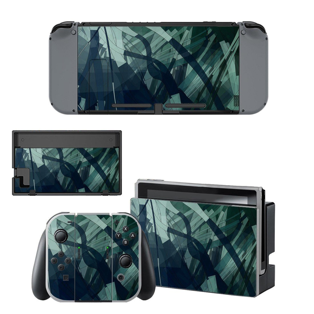 Grey wallpaper decal for Nintendo switch console sticker skin