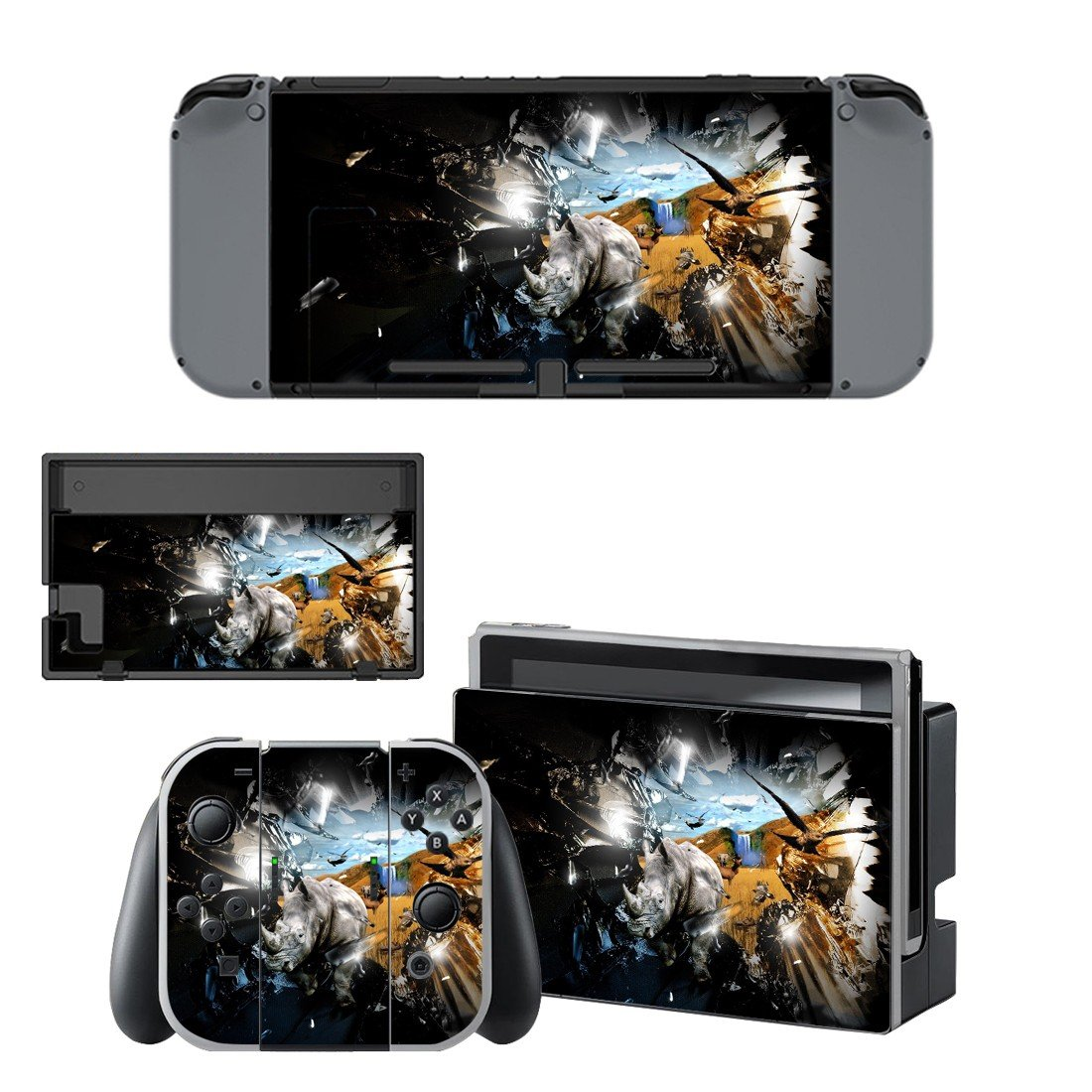 Crash wallpaper decal for Nintendo switch console sticker skin