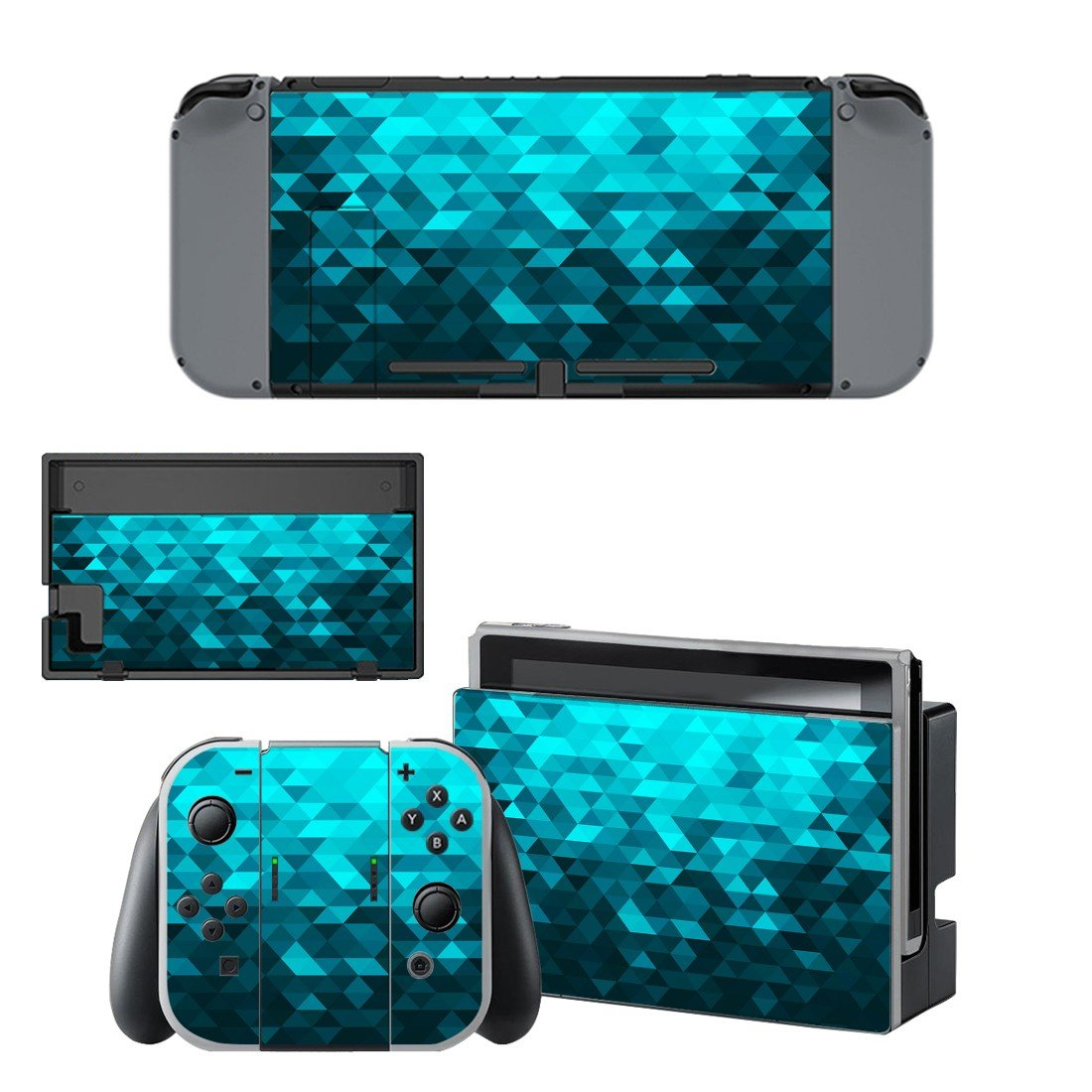 Prismic pattern decal for Nintendo switch console sticker skin