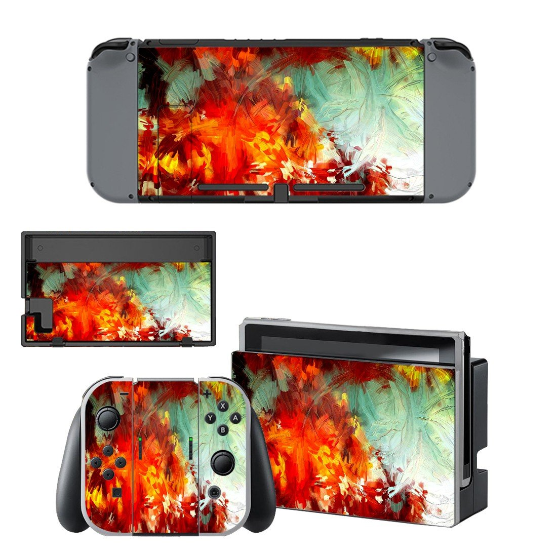 Painted plant decal for Nintendo switch console sticker skin