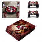 San francisco 49ers ps4 pro skin decal for console and controllers