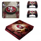 San francisco 49ers ps4 slim skin decal for console and controllers