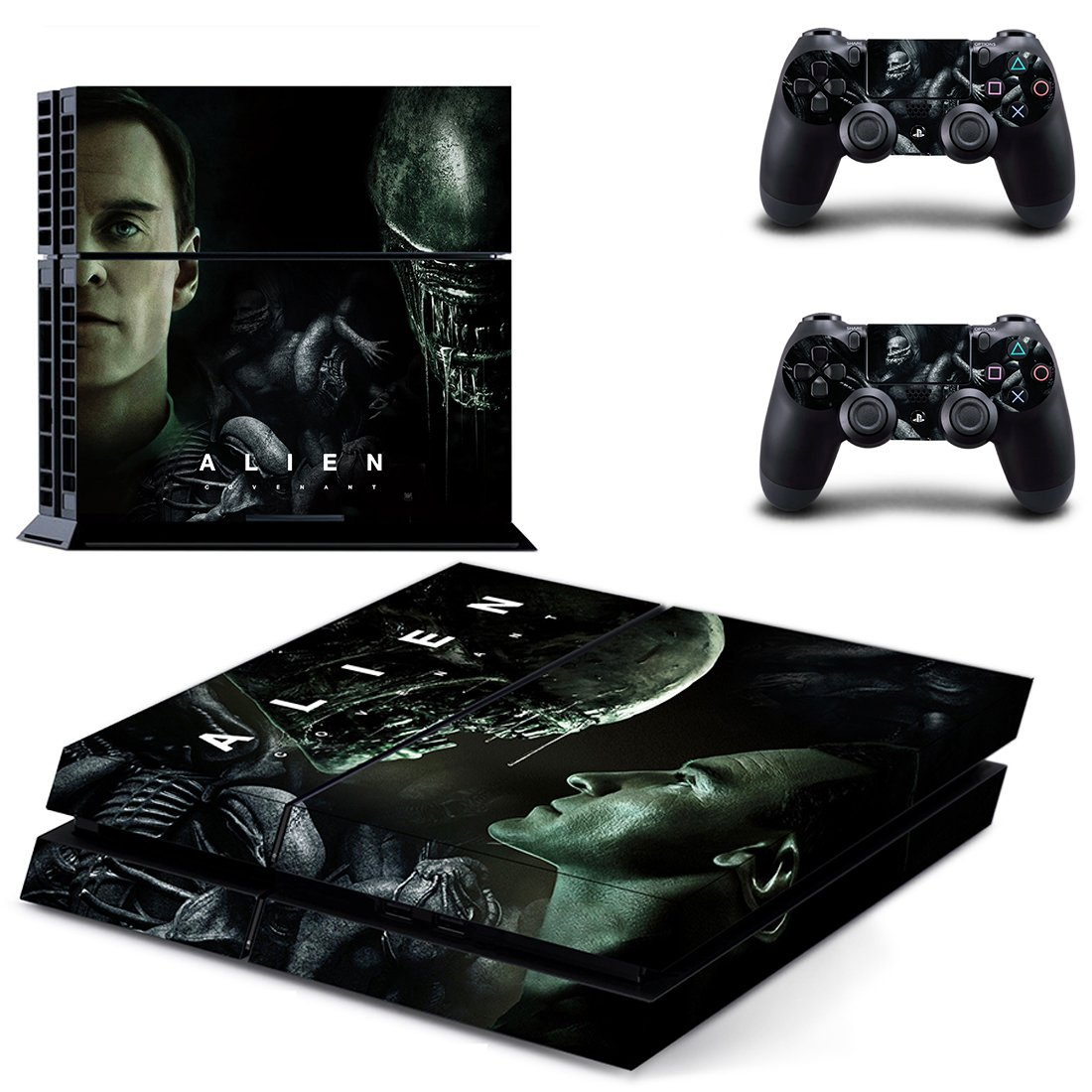 Alien covenant skin decal for ps4 console and controllers