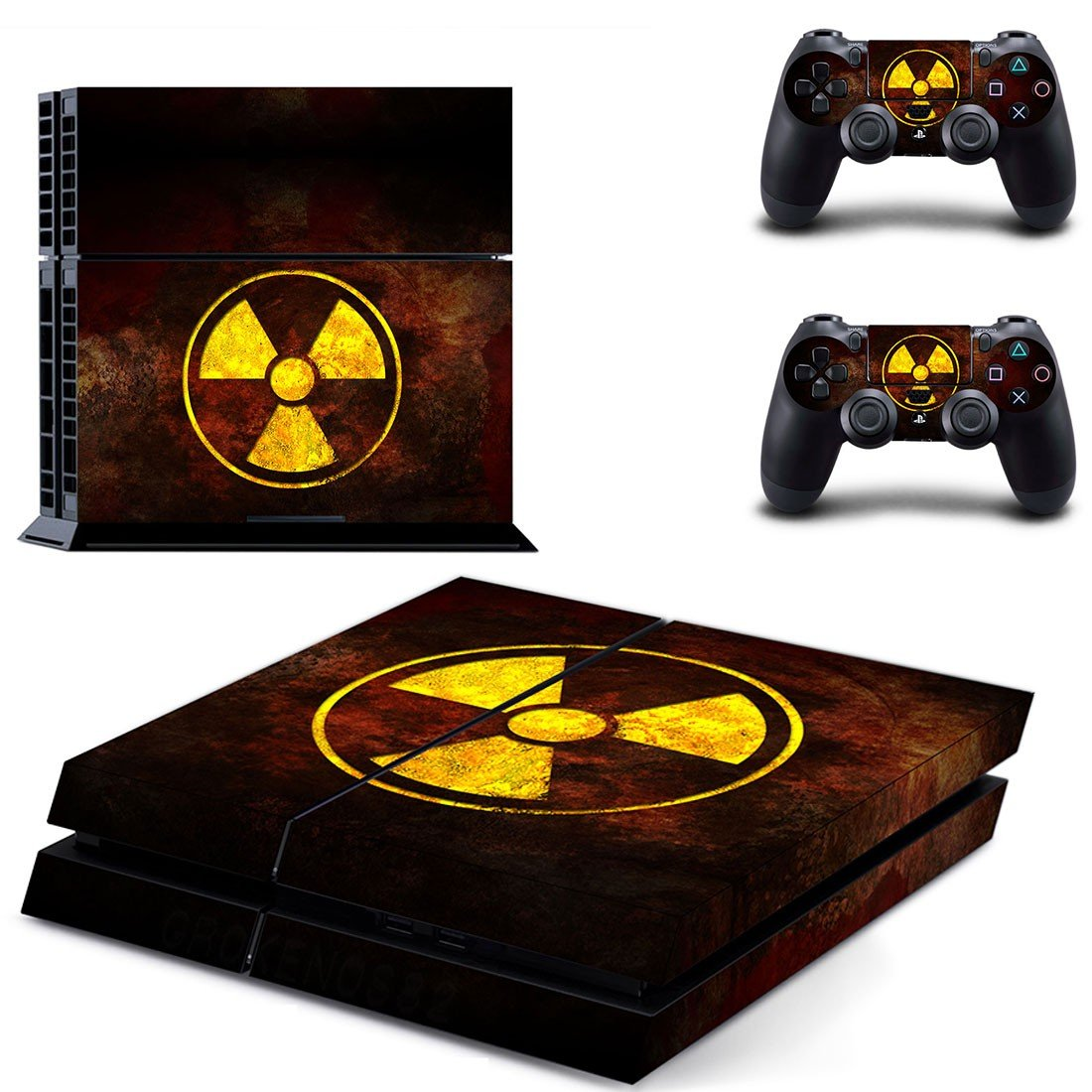 Radioactive wallpaper skin decal for ps4 console and controllers