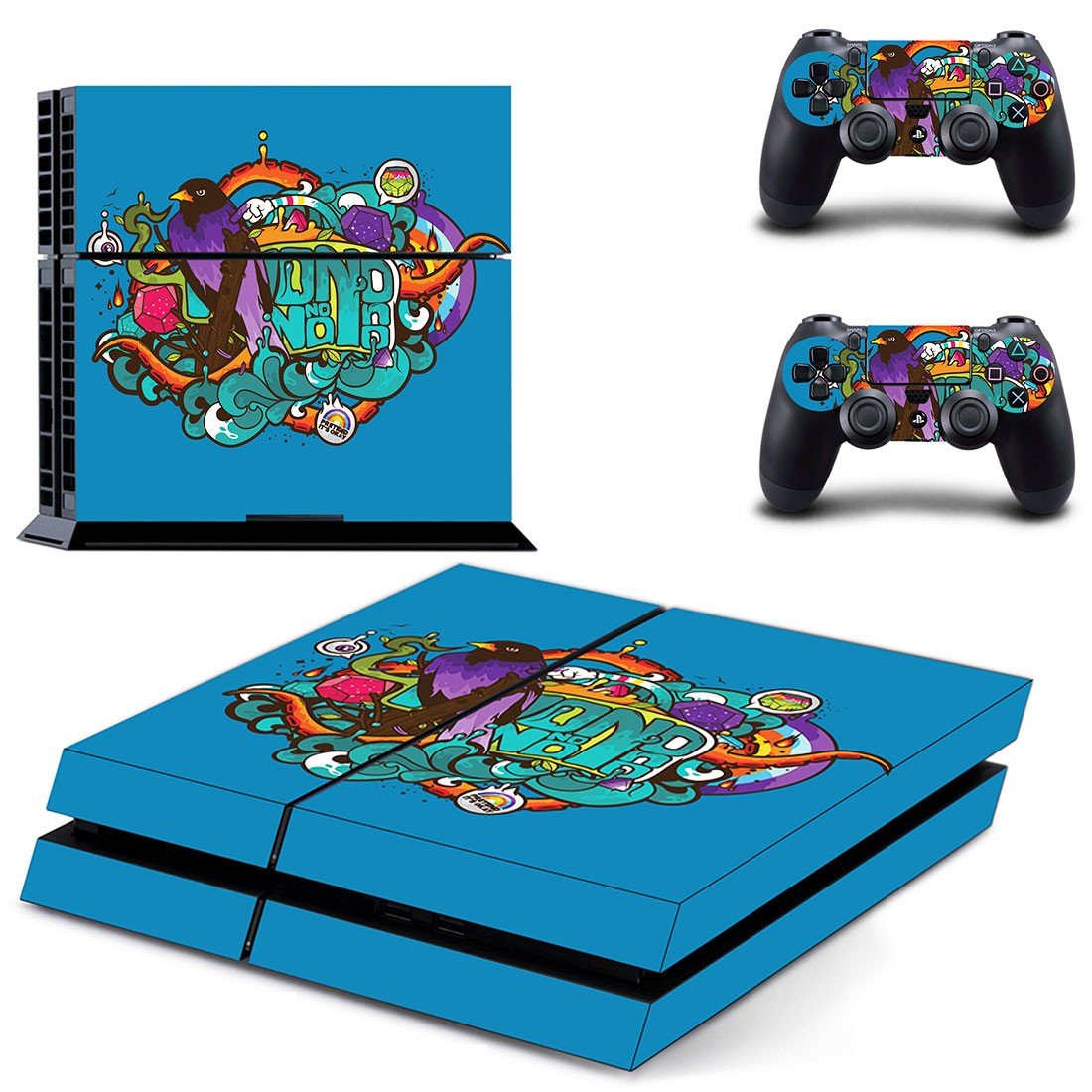 Vector Art skin decal for ps4 console and controllers