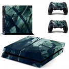 Grey wallpaper skin decal for ps4 console and controllers