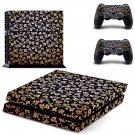Floral pattern skin decal for ps4 console and controllers