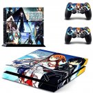 Sword art online skin decal for ps4 console and controllers