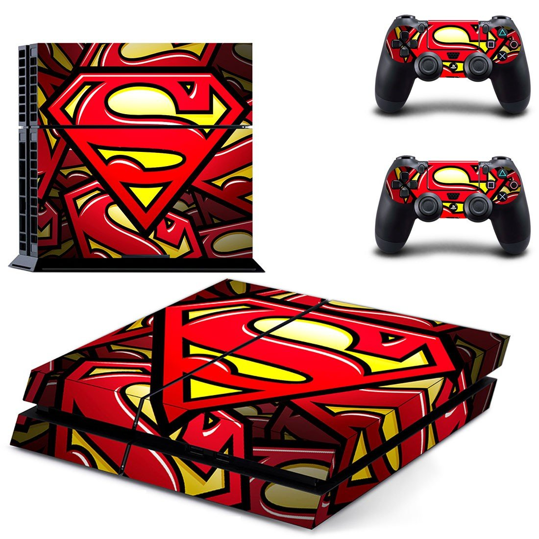 Superman skin decal for ps4 console and controllers