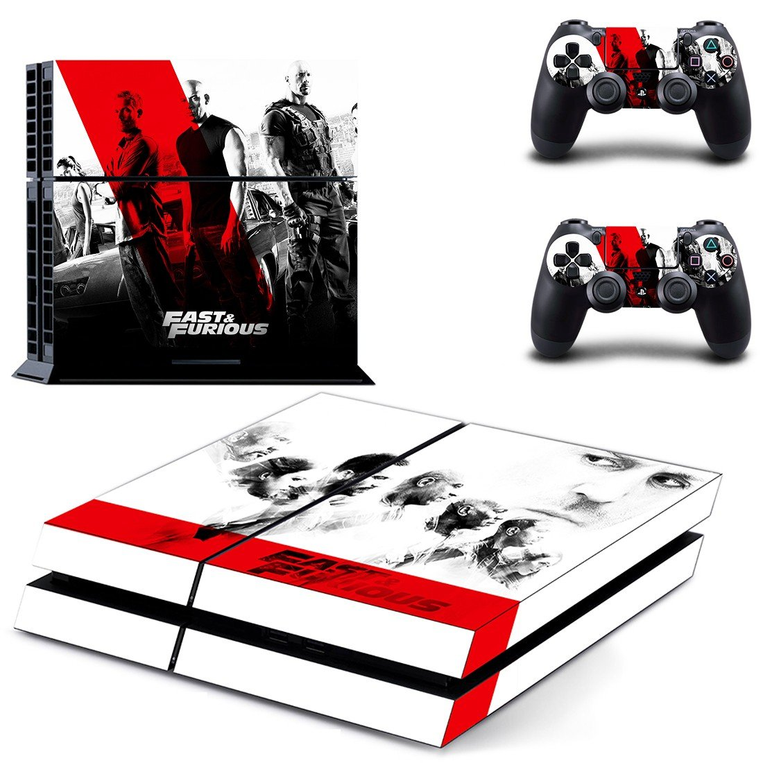 Fast & Furious skin decal for ps4 console and controllers