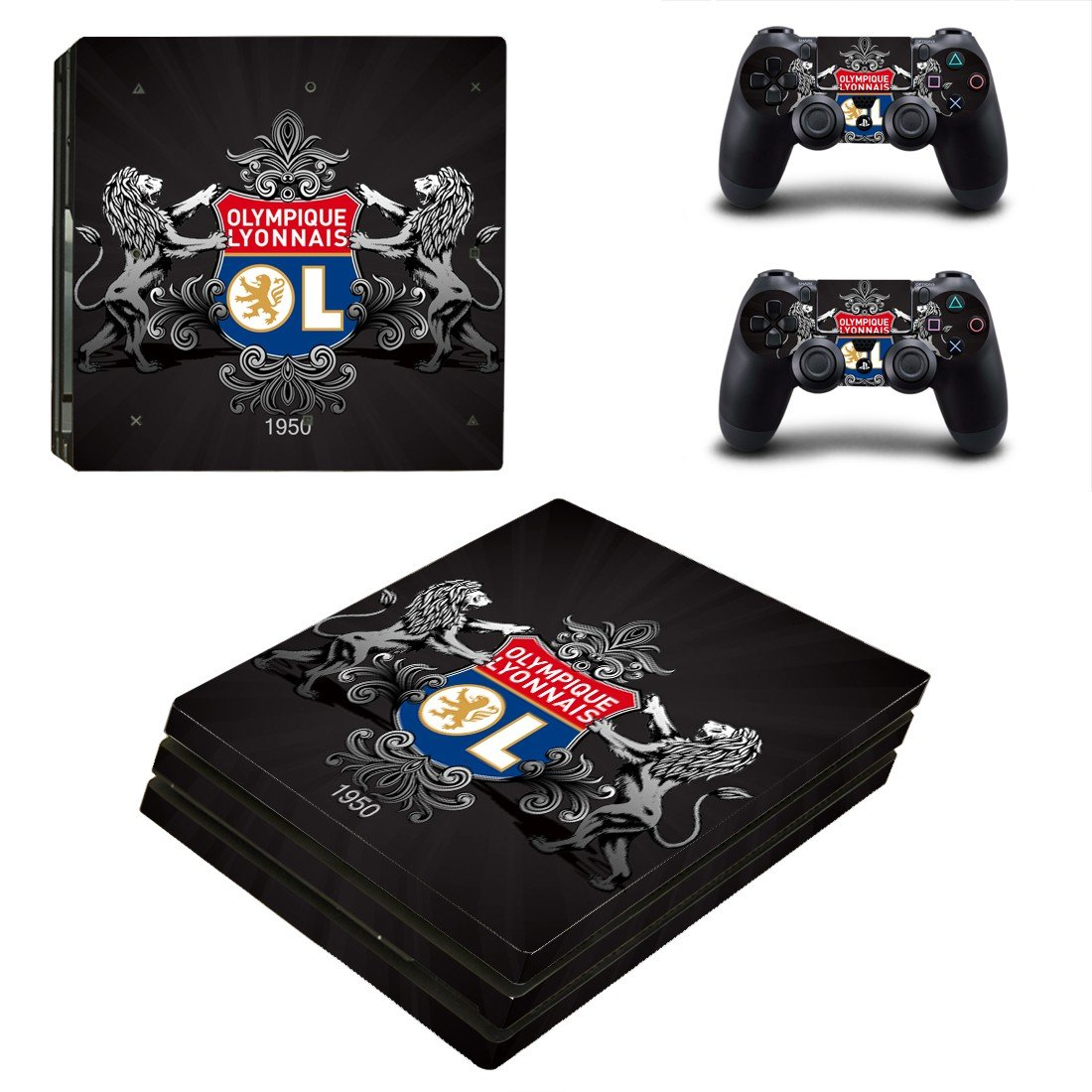 Olympique Lyonnais ps4 pro skin decal for console and controllers