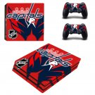 Washington capitals ps4 pro skin decal for console and controllers