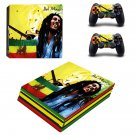 Bob marley ps4 pro skin decal for console and controllers