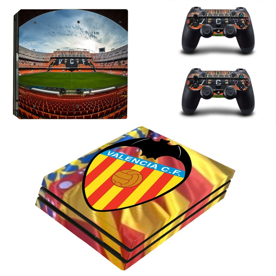 Valencia CF ps4 pro skin decal for console and controllers