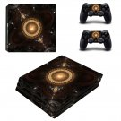 Fractal art ps4 pro skin decal for console and controllers