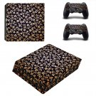 Floral clipart ps4 pro skin decal for console and controllers
