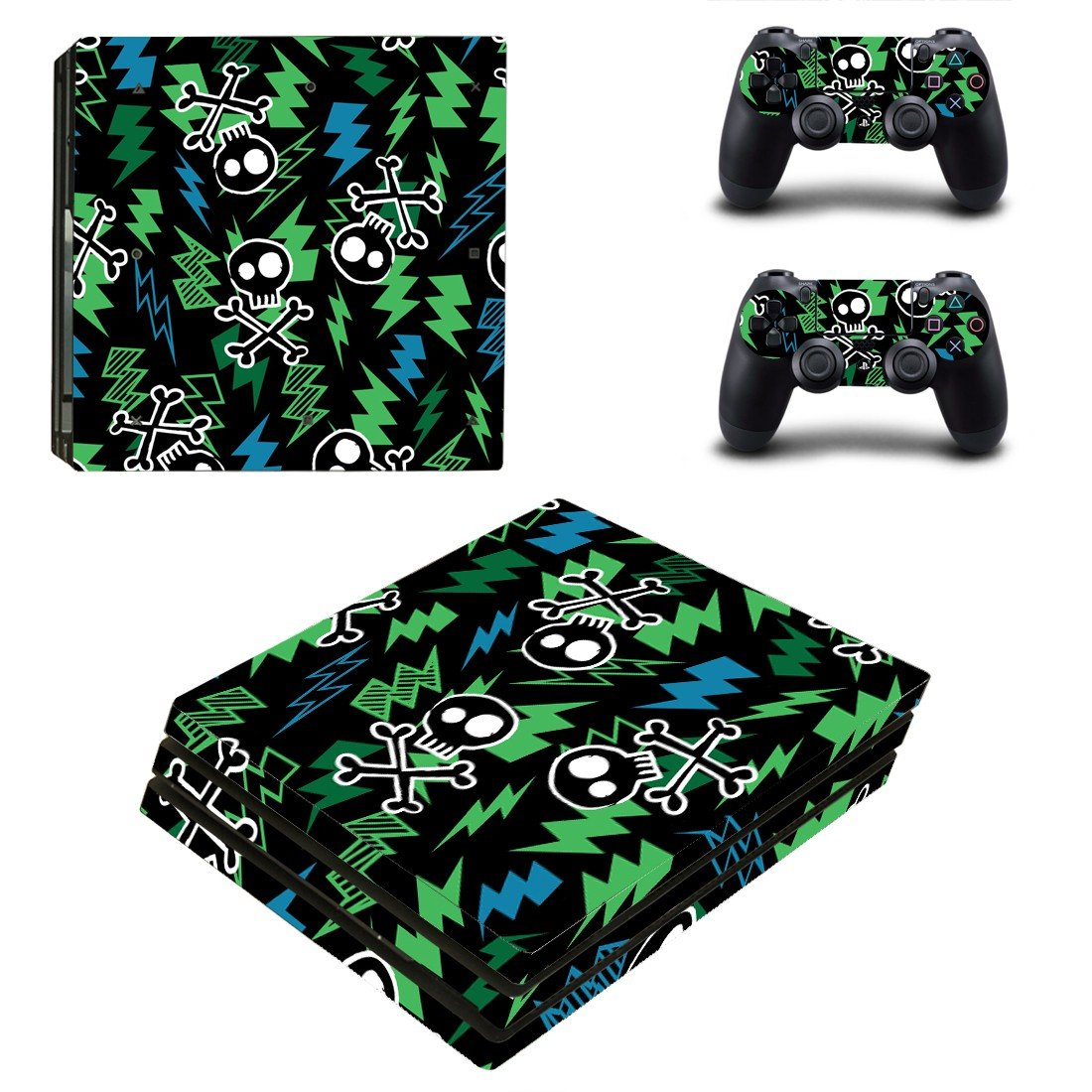 One piece ps4 pro skin decal for console and controllers