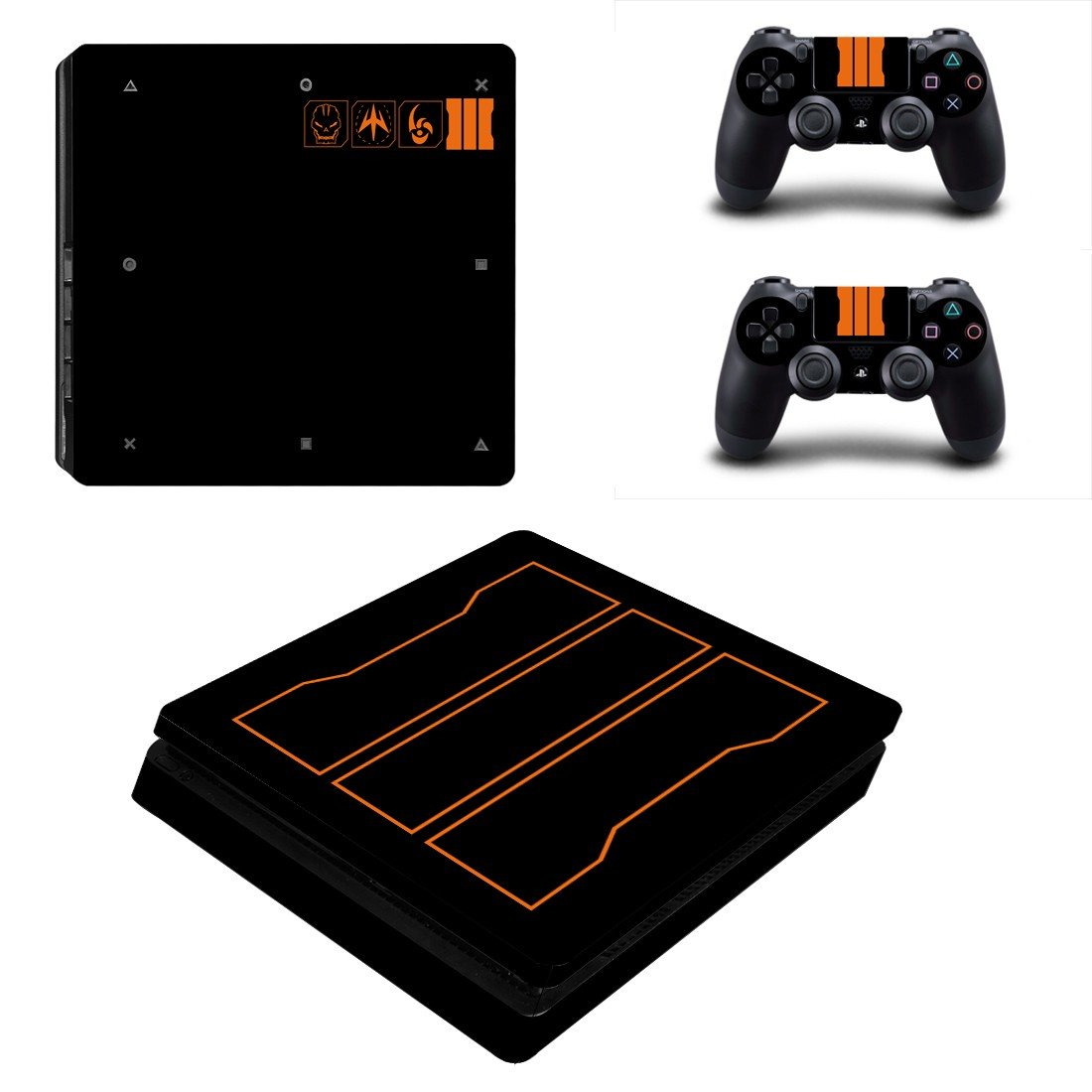 Classic game ps4 slim skin decal for console and controllers