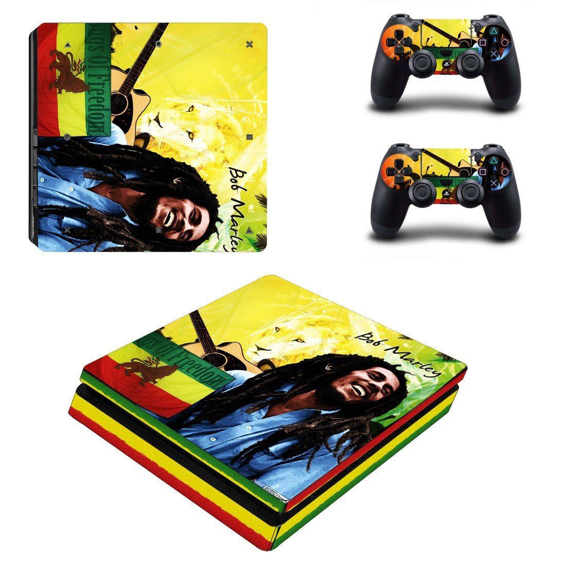 Bob marley ps4 slim skin decal for console and controllers