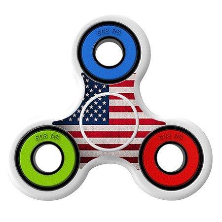 USA Flag Skin Decal for Hand Fidget Spinner sticker toy