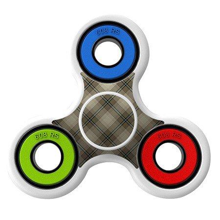 Tartan pattern Skin Decal for Hand Fidget Spinner sticker toy