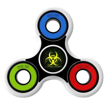 Biohazard Skin Decal for Hand Fidget Spinner sticker toy