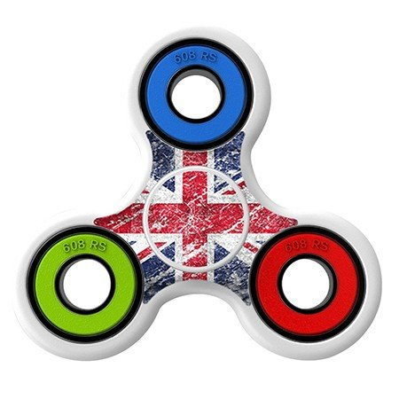 Blurry UK Flag skin Skin Decal for Hand Fidget Spinner sticker toy