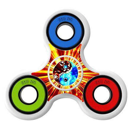 Yin yang on fire Skin Decal for Hand Fidget Spinner sticker toy