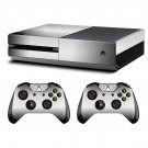 Silver classic skin decal for Xbox one console and controllers