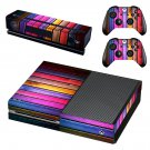Colorfull wooden board skin decal for Xbox one console and controllers