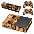 Squares block wall skin decal for Xbox one console and controllers