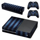 Blue vintage skin decal for Xbox one console and controllers