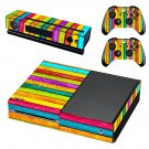 Colorful wooden board skin decal for Xbox one console and controllers