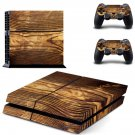 Tree trunk skin decal for PS4 PlayStation 4 console and 2 controllers