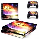 Sky planets skin decal for PS4 PlayStation 4 console and 2 controllers