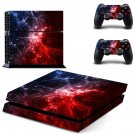 Sky storm skin decal for PS4 PlayStation 4 console and 2 controllers
