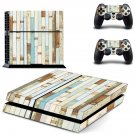 Wood slide boardskin decal for PS4 PlayStation 4 console and 2 controllers
