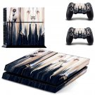Wood face skin decal for PS4 PlayStation 4 console and 2 controllers