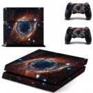 Galaxy scene skin decal for PS4 PlayStation 4 console and 2 controllers
